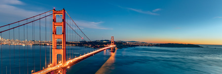 Golden Gate bridge, San Francisco California Stock Photo
