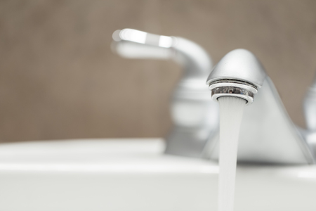 Bathroom faucet with running water
