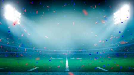 American football field championship win celebration Stock Photo