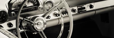Dashboard of classic car