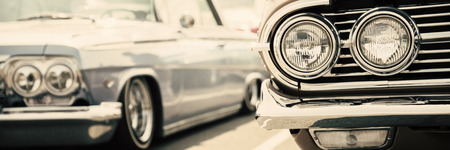 Old America cars street display Stock Photo