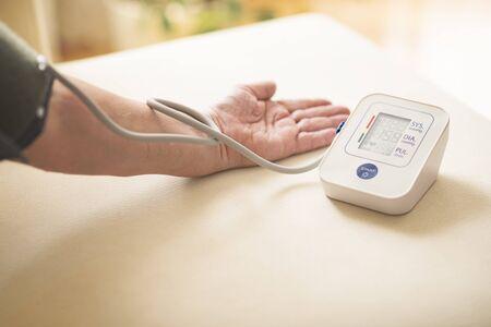 Blood pressure test with digital meter
