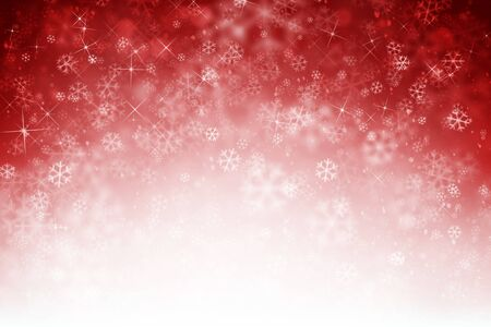 Abstract with snowflakes in red