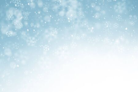 Abstract with snowflakes in blue