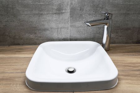 sink and faucet in bathroom