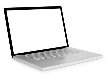 Generic laptop isolated on white background
