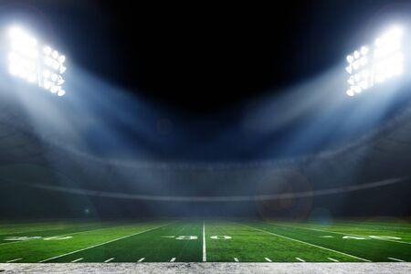 American football stadium with bright lights Reklamní fotografie