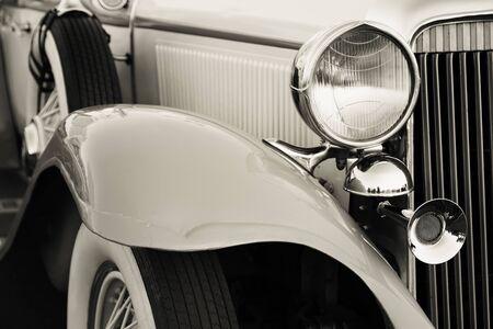 Old vintage car headlights close-up Reklamní fotografie