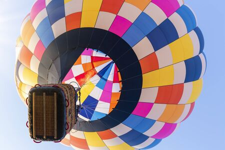 hot air balloon on sunny blue sky, close-up Reklamní fotografie