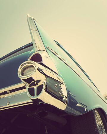 classic vintage car tailights close-up