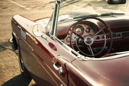 Vintage car driver side