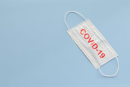 medical mask to protect against covid-19 flu, coronavirus global pandemic concept