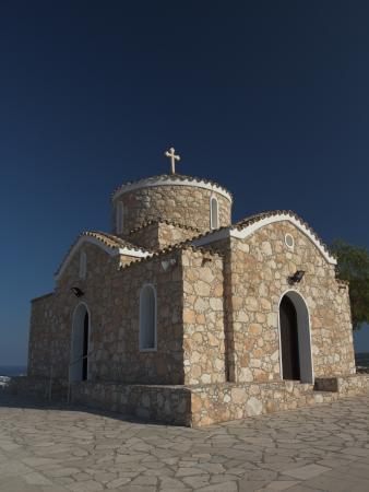 saintliness: Profitis Ilias Church, Protaras, Cyprus Stock Photo