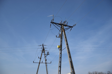 over voltage: electric pole