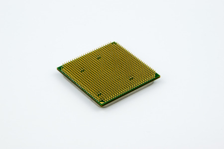 CPUs - Personal Computer Processor on the bright background Stock Photo
