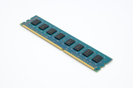 PC Computer RAM Memory Module Stock Photo