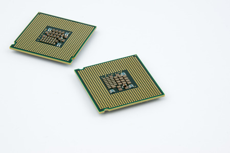 CPUs - Personal Computer Processors on the white background
