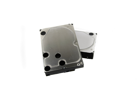 PC Hard Drives HDD on the white background Stock Photo - 74465216