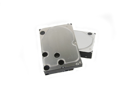 PC Hard Drives HDD on the white background