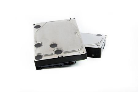 PC harde schijven HDD op de witte achtergrond