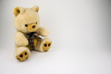 Lovely Teddy Bear Toy Wallpaper Stock Photo