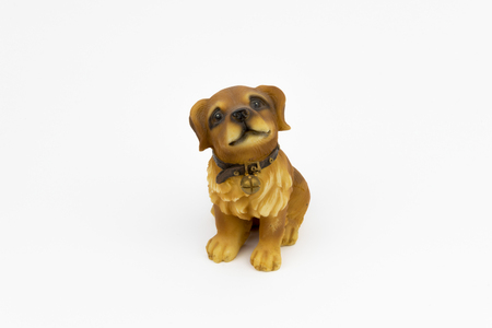 Porcelain Dog on the white background Stock Photo