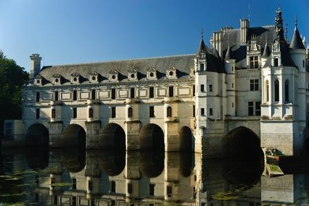 chateau: Chateau de Chenonceau in Loire valley, France