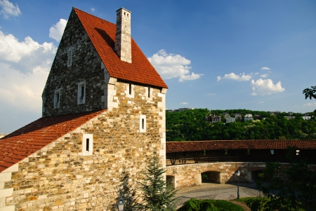 Great Rondella, medieval barbican and powerful fortress - part of the Buda castle in Budapest, Hungary