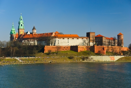 wawel: Magnificent royal Wawel castle on the Vistula river, Cracow, Poland