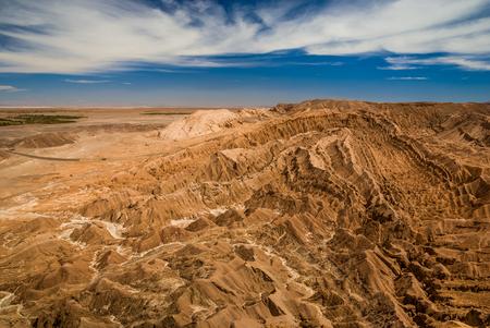 Canyons and mountains - lunar landscape at Atacama desert, Valle de la Luna, San Pedro de Atacama, Chile