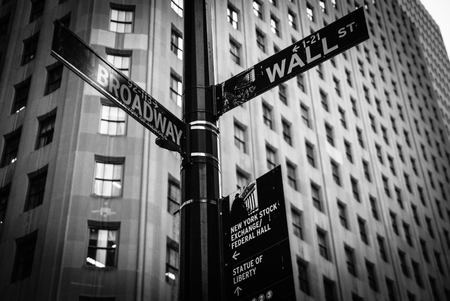 Wall Street and Broadway, New York, United States