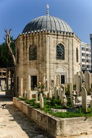 Muslim cemetery by Sehzade mosque, Istanbul, Turkey Stok Fotoğraf