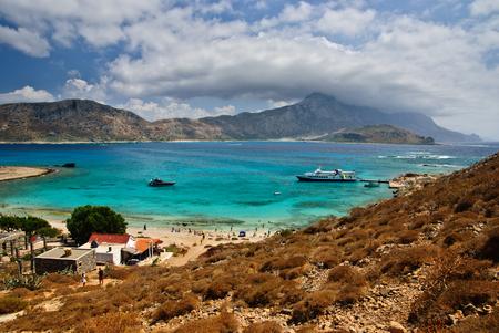 Gramvousa island with view of Balos lagoon, Crete, Greece Stok Fotoğraf