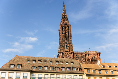 Strasbourg gothic cathedral and old town, France Stok Fotoğraf