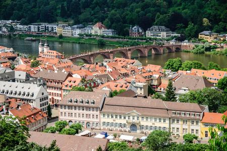 Old town of Heidelberg and the Old Bridge, Heidelberg, Germany