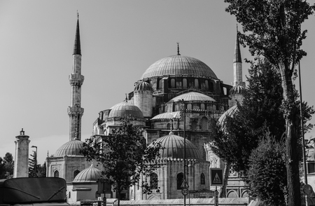 Monumental Sehzade mosque in the old town of Istanbul, Turkey