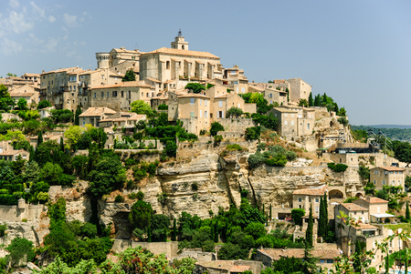 Old town of Gordes on the picturesque hill, Provence, France Stok Fotoğraf