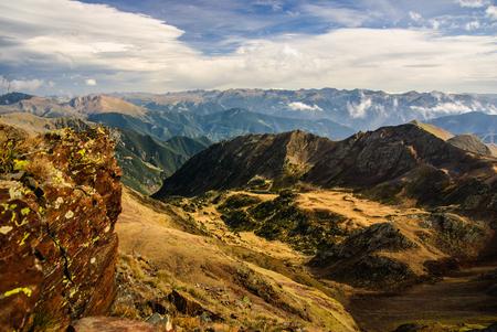 Pyrenees mountains in autumn, Andorra