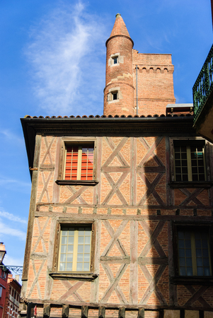 Medieval old town of Toulouse, France