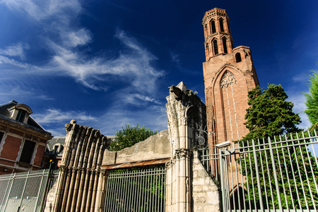 Ruins of the Church of the Cordeliers, Toulouse, France Stok Fotoğraf