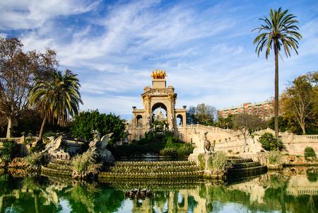Magnificent fountain in the Parc de la Ciutadella, Barcelona