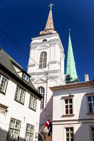 Baroque church at Riga old town, Latvia