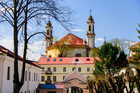 Old gardens of Saint Casimir in Vilnius, Lithuania Stok Fotoğraf