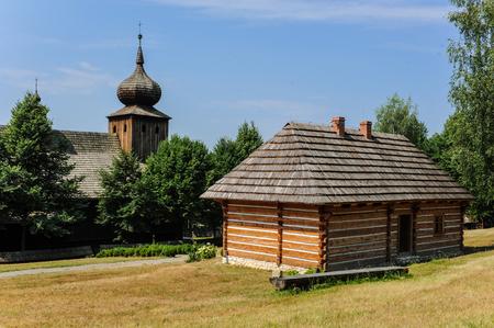 Wooden antique church in Lesser Poland, Poland
