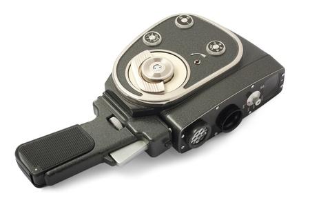 vintage Movie camera isolated on a white background photo