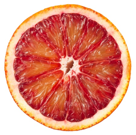 orange slices: Blood red orange slice isolated on white background