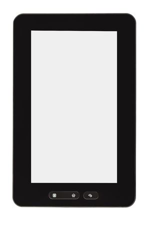 Blank tablet PC isolated on white background Stock Photo - 9368810
