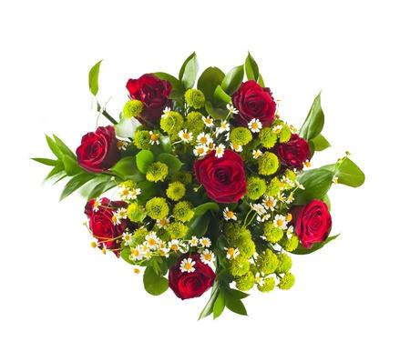 ramos de flores: Ramo de flores coloridas aisladas sobre fondo blanco