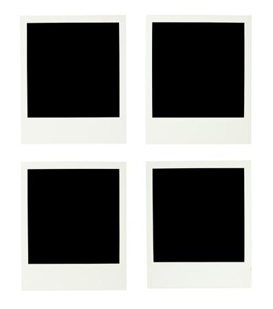 white polaroids: Blank Polaroids isolated on white background Stock Photo