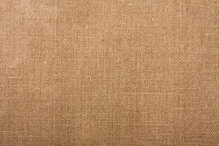 white linen: Textura de tela marr�n natural closeup Foto de archivo